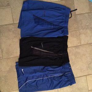 Men's Small, Nike shorts- 3 pair bundle